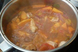 Receta de carne de ternera con zanahorias