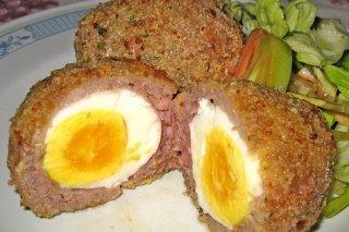 Receta de carne picada rellena de huevo