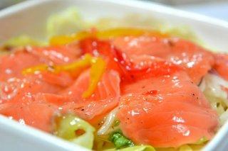Receta de carpaccio de salmón con vinagreta de aguacate
