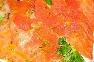Receta de carpaccio de salmón y naranja