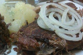 Receta de cerdo al horno con manzana