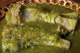 Receta de cerdo con salsa verde