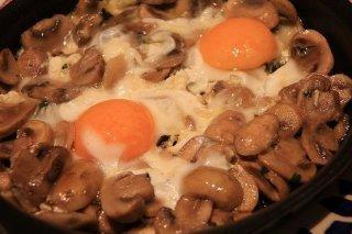Receta de champiñones con huevos
