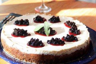 Receta de cheesecake de sauco