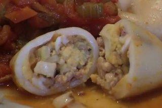Receta de chipirones rellenos con huevo cocido