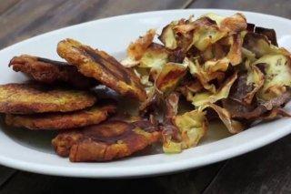 Receta de chips de boniato y plátano frito