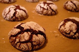 Receta de chocolate crinkles