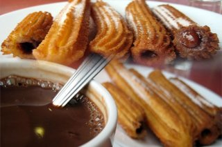 Receta de churros con chocolate