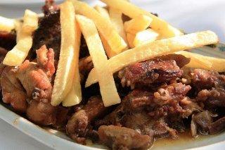 Receta de cochinillo frito al ajillo