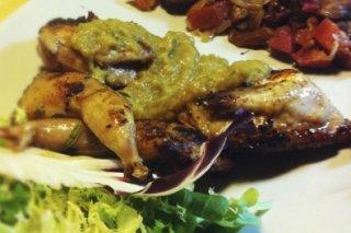 Receta de codornices con salsa de membrillo