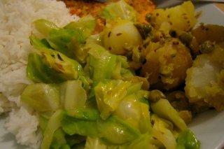 Receta de col con patatas