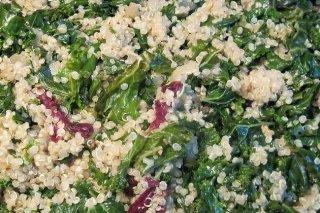 Receta de col con quinoa