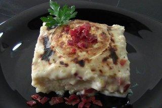 Receta de coliflor gratinada con jamón y queso de cabra