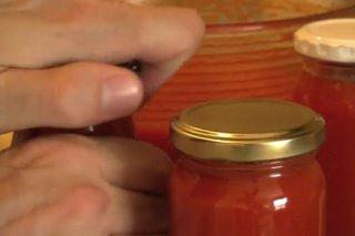 Receta de conservas de tomate frito