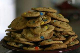 Receta de cookies con m&m