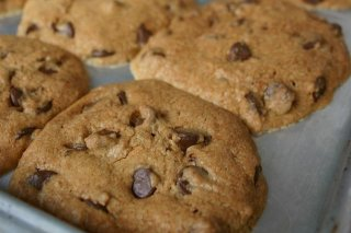 Receta de cookies de chocolate light