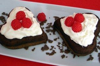 Receta de corazones de brownies