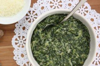 Receta de crema de espinacas y roquefort con bechamel