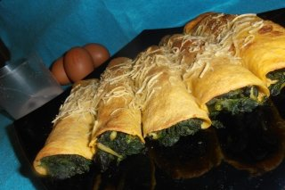 Receta de crepes de pan y espinacas
