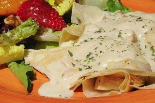 Crepes sin gluten receta for Salsa para crepes