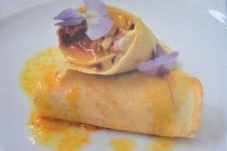 Receta de crepes salados con jamón de bellota