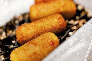 Receta de croquetas de pollo asado con cebolla