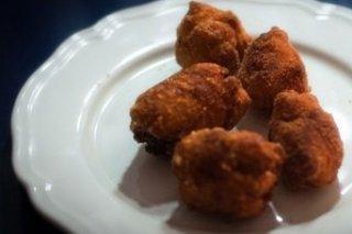 Receta de croquetas de pollo asado y naranja confitada