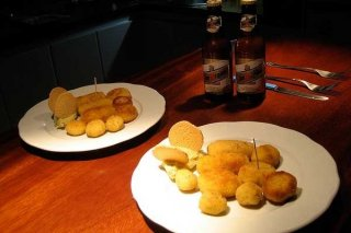 Receta de croquetas de pollo con cebolleta y canela