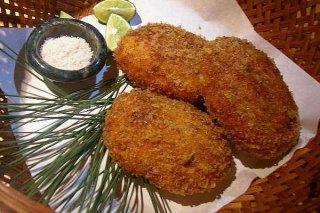Receta de croquetas de pollo y queso azul
