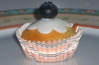 Receta de cupcakes de arándanos