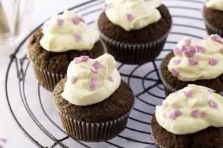 Receta de cupcakes de chocolate decorados