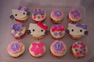 Receta de cupcakes de hello kitty