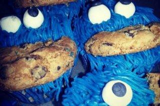 Receta de cupcakes monstruo de las galletas