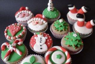 Receta de cupcakes navideños
