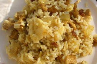 Receta de curry de arroz al plátano