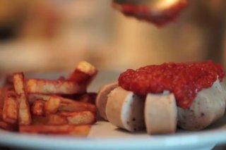 Receta de currywurst