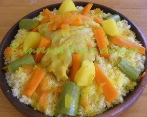 Receta de cuscús de pollo con verduras