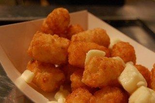 Receta de dados de mozzarella fritos