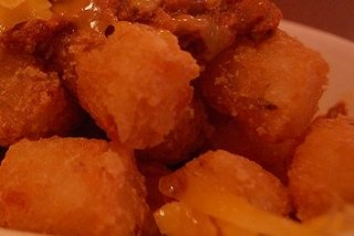 Receta de dados de queso fritos
