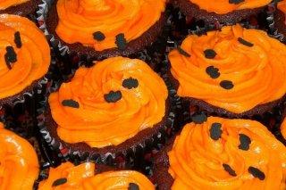 Receta de cupcakes decorados con calabazas de halloween