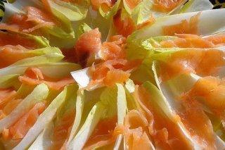 Receta de endivias con salmón