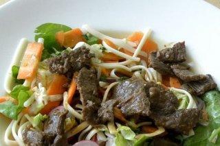 Receta de ensalada con carne