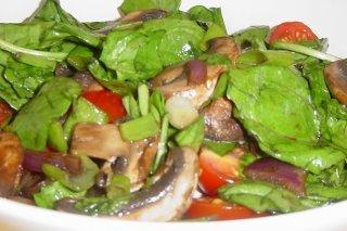 Receta de ensalada con champiñones