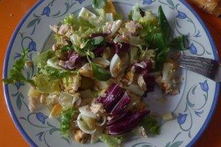 Receta de ensalada con huevo cocido