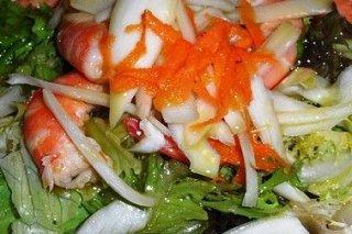 Receta de ensalada con langostinos