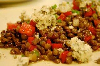 Receta de ensalada con lentejas