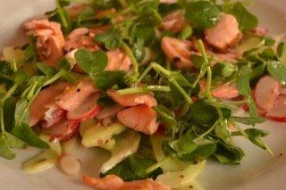 Receta de ensalada con salmón ahumado y naranja