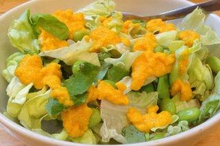 Receta de ensalada con salsa de zanahoria