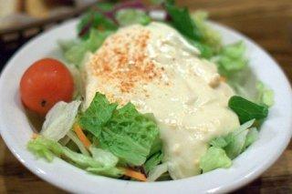 Receta de ensalada con salsa