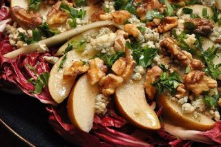 Receta de ensalada con vinagreta de frambuesa